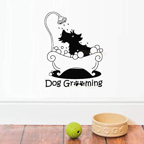 Pegatinas De Pared Peluquería Canina Arte Niños Cachorros Cuarto De Baño Cuarto De Baño Peluquería De Mascotas Decoración Del Salón
