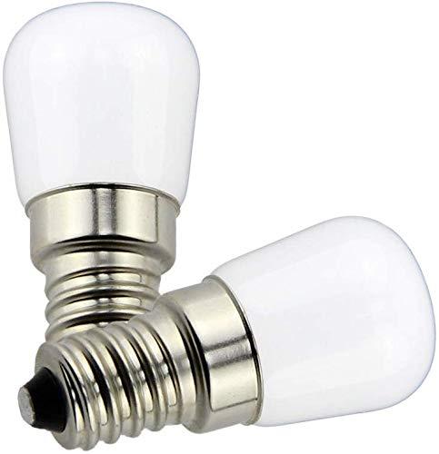 Y.W. E14 LED Glühbirne 2W T26 12V Lampe Leuchtmittel Kaltweiß 6000K Mini Pygmy Milchige Beleuchtung für Boot Hof Mobil Innenbeleuchtung (2 Stück, Nicht Dimmbar)