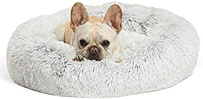 """Best Friends by Sheri Bundle Savings - The Original Calming Shag Donut Cuddler Dog Bed in Small 23"""""""" x 23"""""""" and Pet..."""
