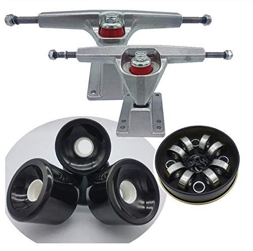 Dish 6.25inch Surf Skate Longboard Trucks Plus 70 mm hohe Rückprall Wheels Plus-ABEC-11 Skateboard Bearings (Farbe : Other)