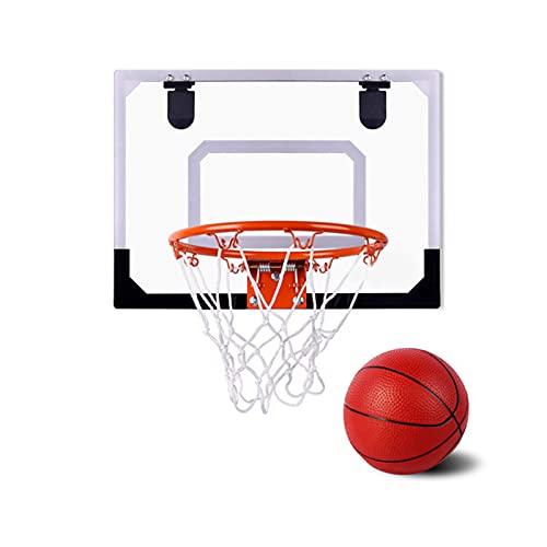 Juego De Mini Aro De Baloncesto Para Interiores Para Niños, Aro De Baloncesto Para Puerta Con 1 Pequeña Pelota De Baloncesto De Goma Con Borde De Metal Para Colgar En La Pared, Juego De Deportes Par