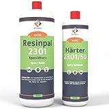 Epoxidharz Resinpal 2301 mit Härter | 1,5 kg Epoxy Set | Transparent & Glasklar | Zum Laminieren & Gießen | Kunstharz Made in Germany | Komplett für Anfänger & Profis | Direkt vom Hersteller |