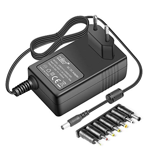 24V Netzteil Ladegerät AC Adapter Transformator für Logitech, Radio, LED-Streifen,Radio, CCTV-Kamera, DVD-Player, Router, TFT LCD Monitor, LCD-Bildschirm, Spielzeug, EU Ladekabel