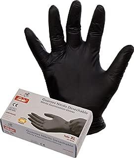 Faher - Guante Desechable Nitrilo Negro Sin Polvo T.M