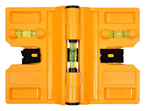 Winkelwasserwaage 3 Libellen 4 Magneten 135 mm und Gummiband Flügelwasserwaage Pfostenwasserwaage