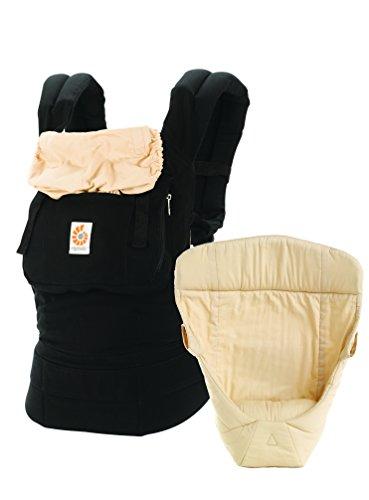 Ergobaby Babytrage Kollektion Original -von Geburt an Paket- (3,2 - 20 kg), Black Camel