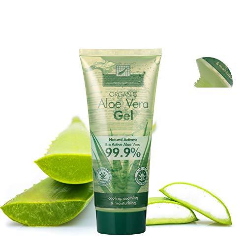 1PC Gel de Aloe Vera Piel Ultra Hidratante de refrigeración Gel de Aloe Aloe Natural Esencial Puro hidratante diaria para no pegajosa Acondicionador para la piel, cara y el pelo