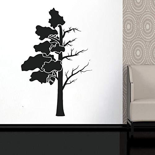 Stamm Zweige Blätter Wanddekoration Fenster Aufkleber Vinyl Aufkleber handgemachte einfache Wohnzimmer Dekoration DIY kreative Wandbild A2 57x87cm