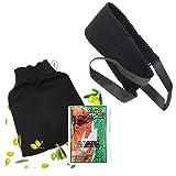 Kessa Peeling-Handschuh aus Marokko + Handschuh für das Peeling am Rücken + 1 schwarze Seifenpads...