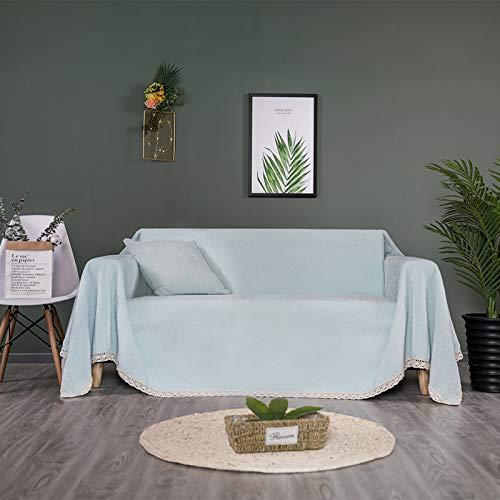 Ouumeis Toalla Multifuncional sofá, Funda Tela algodón, Protector Muebles para sofá, 1-3 plazas, Tela Duradera de Fibra de poliéster, Sala Estar, sillón,Antideslizante,D,180 * 320cm