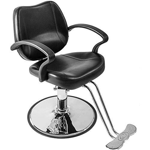 GRASSAIR Chaise de Coiffeur, Chaise de Salon hydraulique Équipement de Salon de Tatouage de Chaise réglable pivotante Capacité de 150 kg pour Hair Stylist Beauty Tattoo Hairdressing Shaving