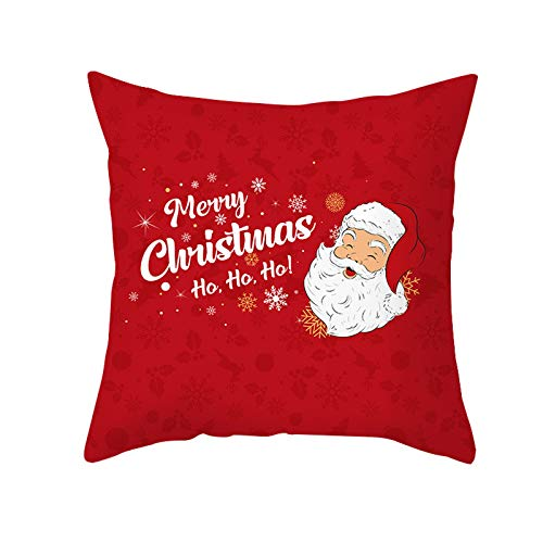 XLW Christmas Throw Pillow Covers Decorative Throw Pillow Covers Winter Pillow Covers for Home Office Sofa Outdoor Couch Decor 17.5X17.5in 1PC