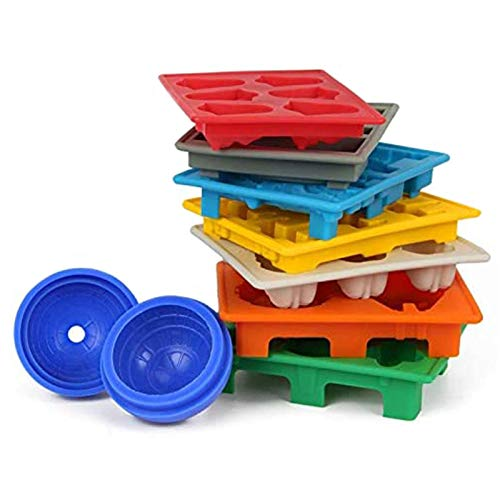 coil-c 8 cuencos de silicona X-Wing Fighter seguros de usar, ideales para chocolate, cubitos de hielo, gelatina, dulces, postres, jabón para hornear