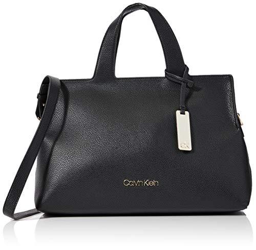 Calvin Klein Neat F19 Tote - Borse a tracolla Donna, Nero (Black),...