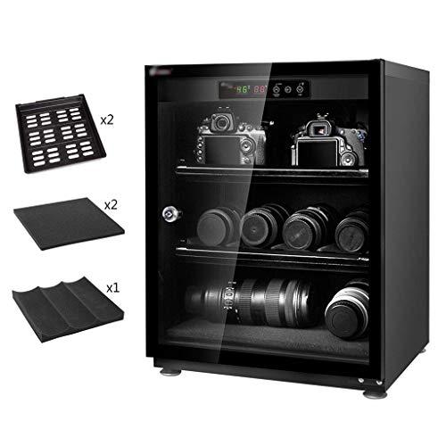 LXDDP Gabinete seco electrónico Profesional, Caja deshumidificadora para Lentes cámara SLR y Almacenamiento Equipos fotográficos, Negro, 70L/85L/100L
