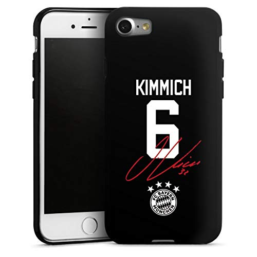 DeinDesign Silikon Hülle kompatibel mit Apple iPhone SE (2020) Case schwarz Handyhülle FC Bayern München FCB Kimmich