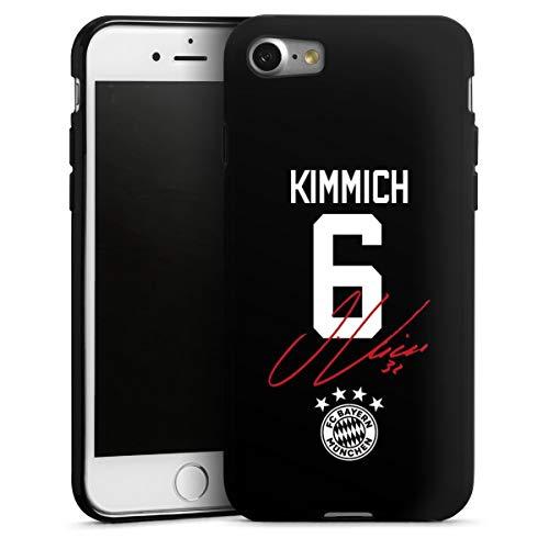 DeinDesign Silikon Hülle kompatibel mit Apple iPhone 7 Case schwarz Handyhülle FC Bayern München FCB Kimmich