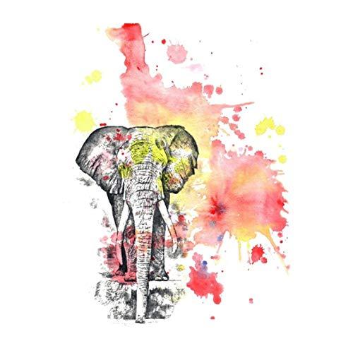 Toppa da donna in ferro su toppe di stampa con trasferimento di calore, adesivi a forma di elefante, multicolore