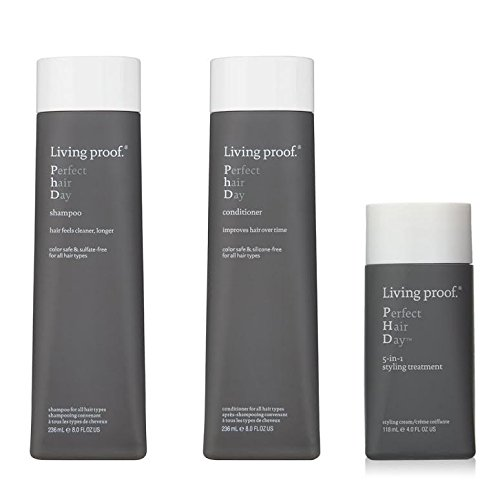 Living Proof Perfect Hair Day Shampoo 8 oz. Conditioner 8 oz. and 5-in-1 Styling Treatment 4 oz set