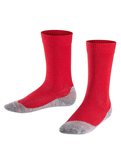 FALKE Kinder Socken Active Sunny Days - Baumwollmischung, 1 Paar, Rot (Fire 8150), Größe: 35-38