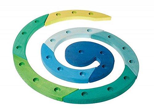 Grimm's Spiel und Holz Design Anniversaire-spirale - bleu-vert