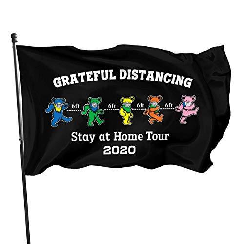Yuanmeiju Bandera de jardín Funny Grateful Distancing Stay at Home Tour 2020 Flagidlightweight Durable Outdoor Decorative Yard Flag Home Garden Flag 3x5 Ft