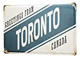 LEotiE SINCE 2004 Blechschild Retro Metropole Toronto