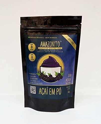 Amazonito Açaí em Pó Liofilizado Freeze-Dried Sachê 90gr.