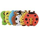 Desconocido Generic Tope para Puerta Protector de Dedo pellizco jamhoo niños Seguridad Colorful Cartoon Animal Espuma Tope para Puerta cojín para bebé Niños Segura Juego de 7