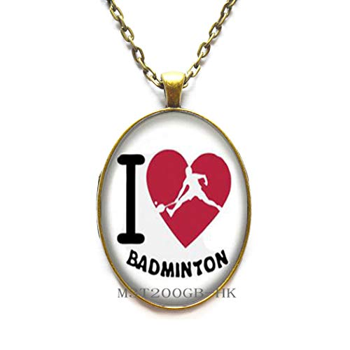 Ciondolo a forma di badminton fatto a mano con foto regalo per allenatore, regalo di compleanno