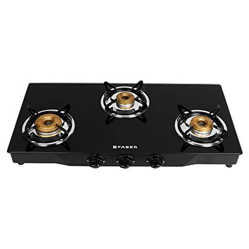 Faber Onyx 3BB BK CI 3 Burners Hob Cooktop (Black)