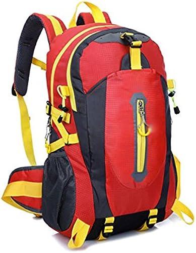 XINGZHE Randonnée en Plein air Sac à Dos Multi-Fonction Grande capacité Sac à Dos Sport imperméable lumière Sac d'alpinisme De Plein air (Couleur   rouge)