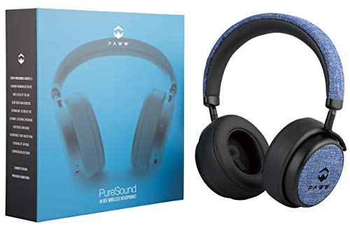 Paww PureSound Headphones - Over the Ear Bluetooth Fashion Headphones – Hi Fi Sound Quality Longer Playtime - For Calls Movies & More (Nautical Blue)