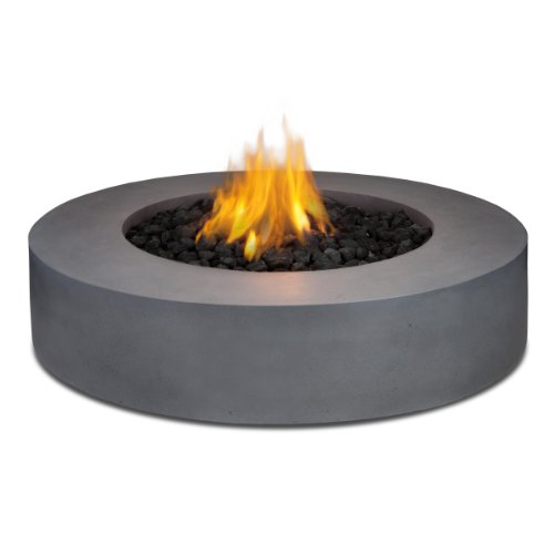Hot Sale Real Flame Mezzo Round Propane Fire Pit/Table in Flint Gray