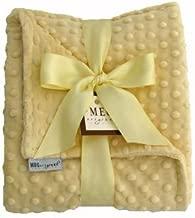 MEG Original Soft Yellow Minky Dot Baby Blanket 357
