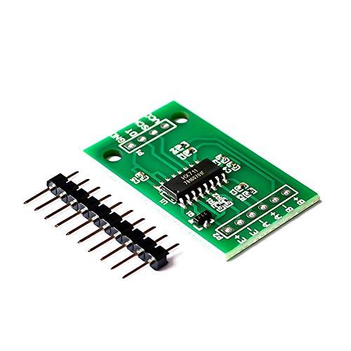 HX711 Sensor de módulo de pesaje de 6 piezas de módulo AD de un solo chip sensor de presión para microcomputadora