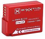 Baxxtar Pro Akku (1100mAh) - Ersatz für Akku Panasonic DMW BLC12 E - intelligenter Akku - Lumix DC FZ1000 II G91 DMC GX8 G70 G81 G7 G6 G5 FZ2500 FZ2000 FZ1000 FZ300 FZ200 usw.