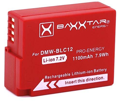 Baxxtar Pro Akku (1100mAh) - Ersatz für Akku Panasonic DMW BLC12 E - intelligenter Akku - Lumix DC FZ1000 II G91 DMC GX8 G70 G80 G81 G7 G6 G5 FZ2500 FZ2000 FZ1000 FZ330 FZ300 FZ200 usw.