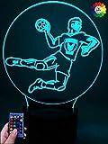 Optical Illusions 3D Handball Nacht Licht LED Lampen...