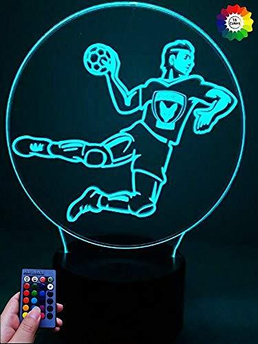 Optical Illusions 3D Handball Nacht Licht LED Lampen Fernbedienung 7/16 Farbwechsel Berühren Tabelle Schreibtisch USB Power für Kinder Schlafzimmer Geburtstagsgeschenke Geschenk