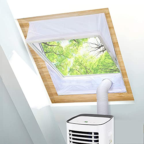 TOPOWN Tissu de Calfeutrage pour Fenêtre à Pivot avec Un périmètre Allant de 381cm à 460cm, Joint de fenêtre basculant, Calfeutrage climatisuer Mobile velux, 2 x 230cm