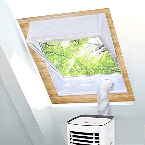 TOPOWN Tissu de Calfeutrage pour Fenêtre à Pivot avec Un périmètre Allant de 301cm à 380cm, Joint de fenêtre basculant, Calfeutrage climatisuer Mobile velux, 2 x 190cm