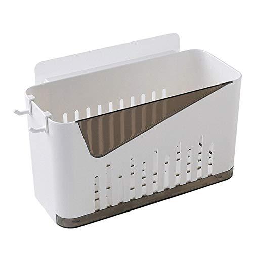 Stanzfreies Badezimmer-Regal aus Kunststoff für Toiletten und Badezimmer, zum Aufhängen an der Wand oder als Ablagekorb für Badezimmer, ohne Spuren