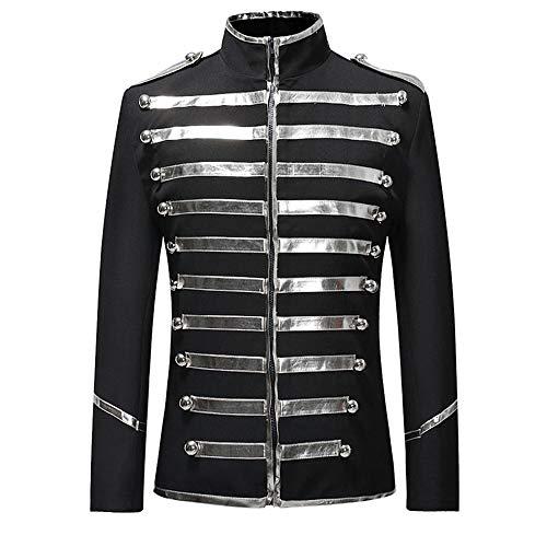 OEAK Herren Slim Fit Jacke Retro Gothic Gehrock Uniform Kostüm Steampunk Für Party Hochzeit Abend Besticktes Winterjacke