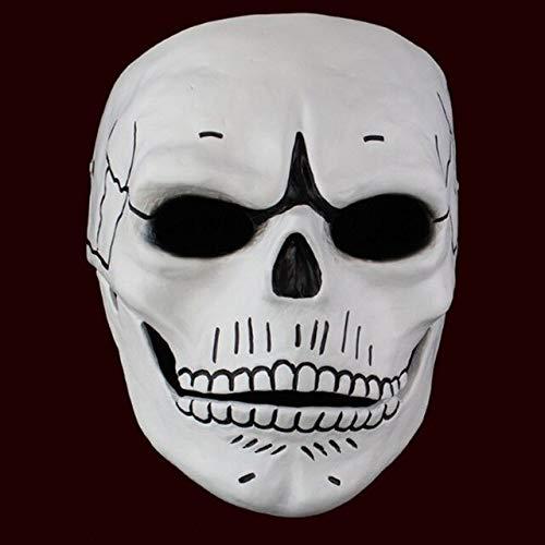Dodom Film 007 James Bond Spectre Harzmaske Schädel Skelett Unheimlich Halloween Karneval Cosplay Maskerade Ghost Party Maske Prop, Weiß