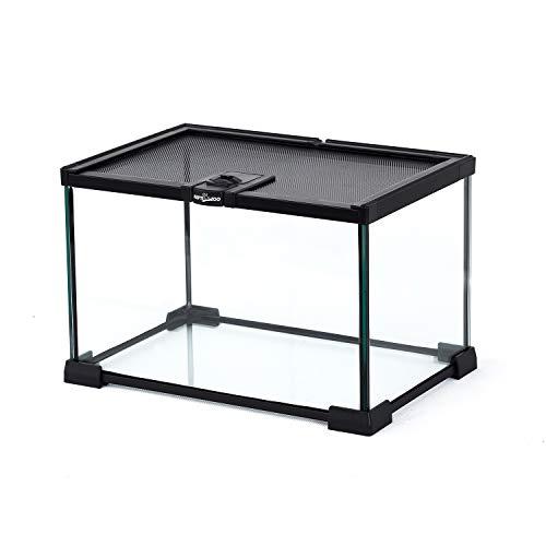 "REPTI ZOO Mini Reptile Glass Terrarium Tank 12"" x 8' x 8' Full View Visually Appealing Small Reptile Glass Habitat Cage"