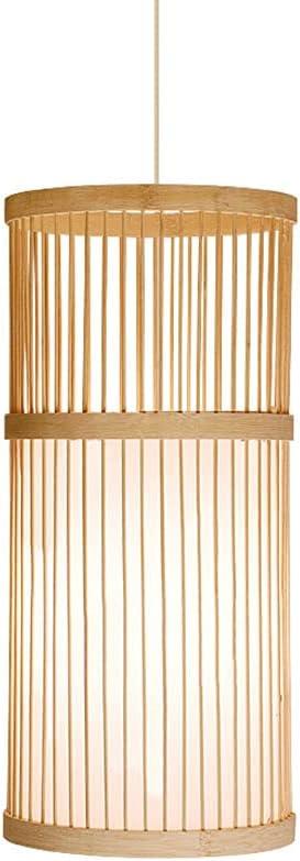 JISHUBO Japanese Style free Bamboo Woven Popular Cyli Creative Light Pendant