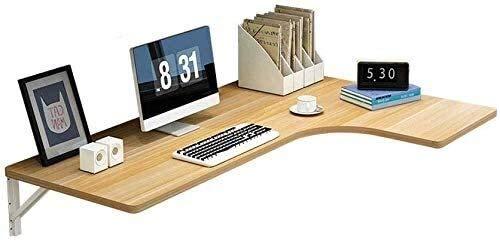 LAMTON Laptop escritorio de oficina pequeña simple aprendizaje del niño que cuelga de escritorio plegable montado en la pared de alas abatibles tabla de la oficina Equipo estación de trabajo con 2 Sop