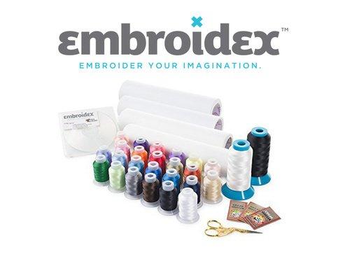 Embroidex Embroidery Machine Starter Kit - Everything Needed to Do Machine Embroidery Plus Bonus...