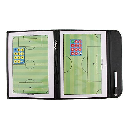 T TOOYFUL - Carpeta de Piel para Entrenadores de fútbol (A4, Incluye bolígrafo)